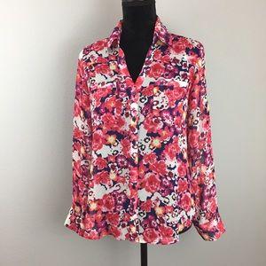 Express The Portofino Shirt Floral Button Up